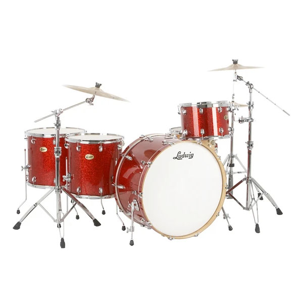 Ludwig Centennial Zep Set RS, Red Sparkle
