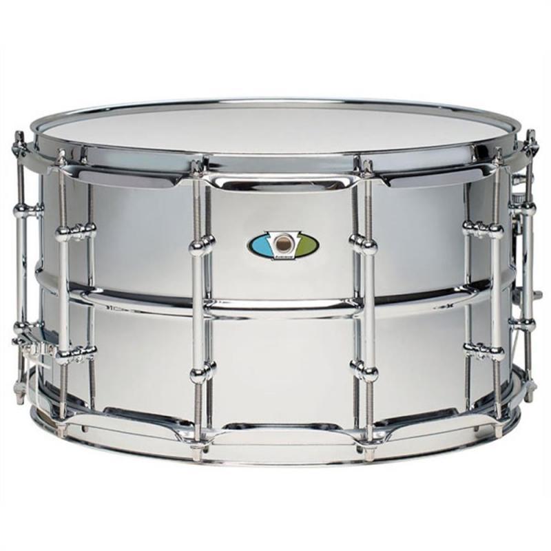 Ludwig LW0814SL Supralite 14×8 – Polished Steel Snare Drum