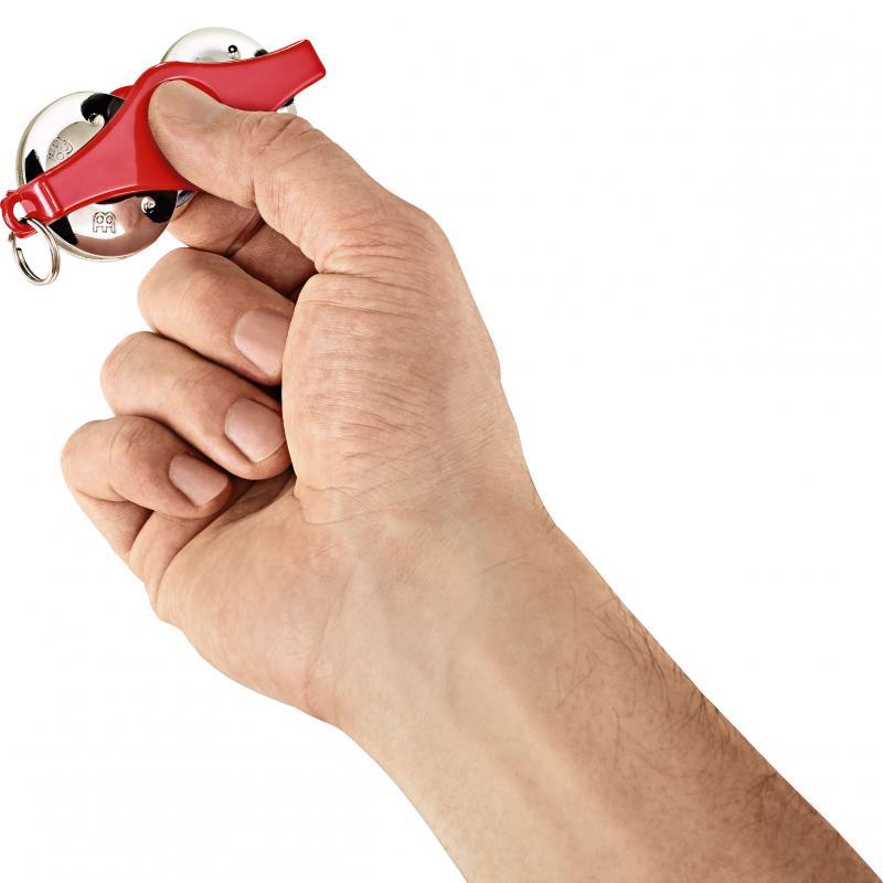 Key Ring Tambourine, Röd