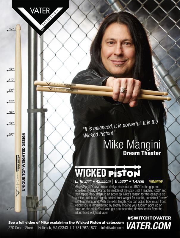 Mike Mangini Wicked Piston, signature, Vater