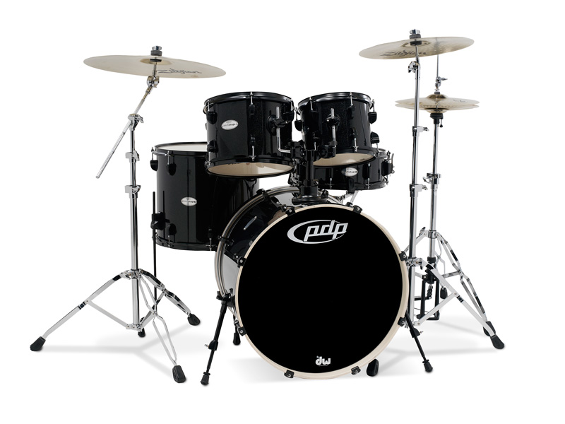 PDP Mainstage, Black Metallic, 5-delars set