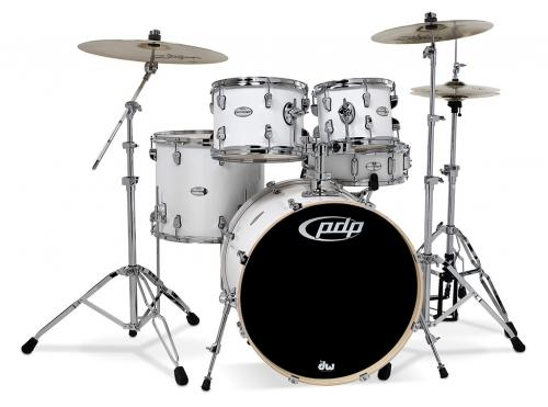 PDP Mainstage, Gloss White, 5-delars set