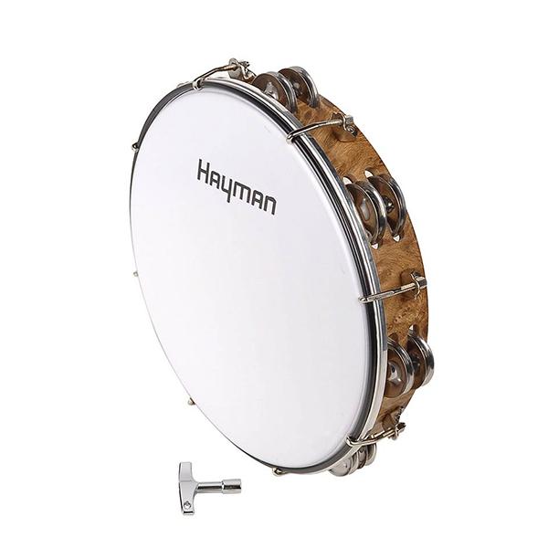 """Hayman MT6-102-NE Drum Tambourine 10"""" - Tunable"""