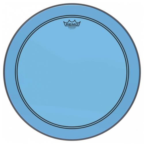 "18"" Colortone Blue Powerstroke 3 bastrumskinn, Remo"