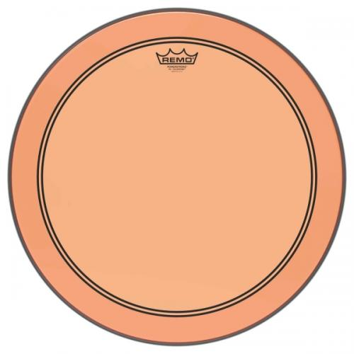 "18"" Colortone Orange Powerstroke 3 bastrumskinn, Remo"