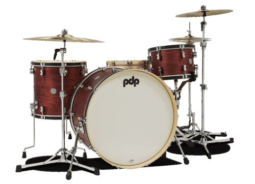 "PDP Concept Classic Shellset - Ox Blood Satin/Ebony Hoop 26"", 13"", 16"","