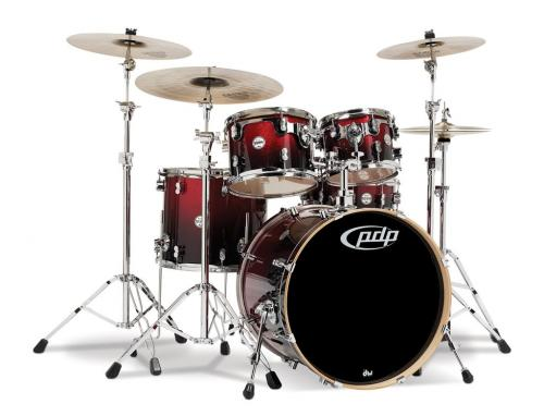 PDP Concept Maple, Red to Black Sparkle, 5-delars set