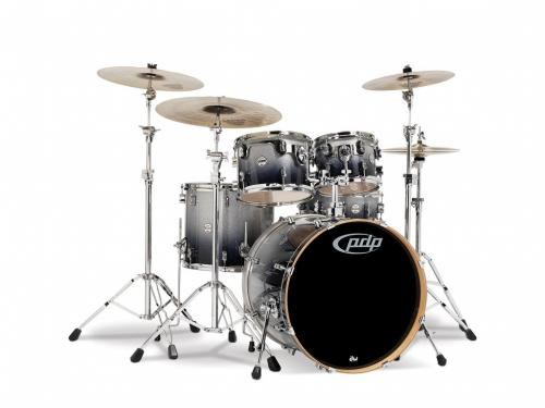 PDP Concept Maple, Silver to Black Sparkle, 5-delars set