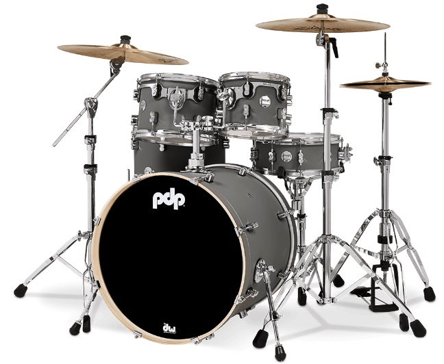 PDP by DW Shell set Concept Maple Finish Ply Satin Pewter, PDCM2215SP