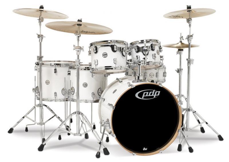 PDP Concept Maple, Pearlescent White, 5-delars set
