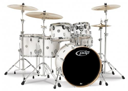 PDP Concept Maple, Pearlescent White, 5-delars set