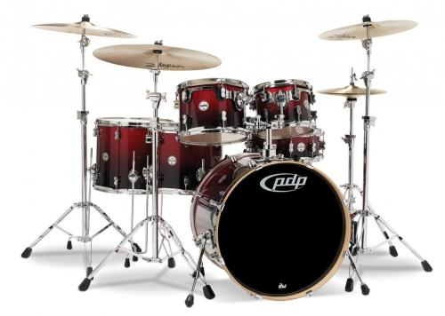 PDP Concept Maple, Red to Black Sparkle, 6-delars set