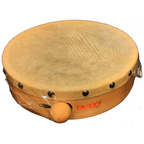 Dixon 12″ Frame Drum Wood – Calf-Skin Head w/Mallet