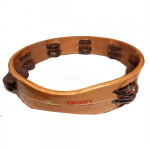 Dixon 10″ Tambourine Wood Headless – 14 Jingle Pairs