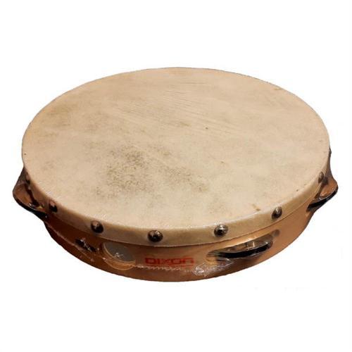Dixon 10″ Tambourine Wood Head Not Tunable – 8 Jingle Pairs