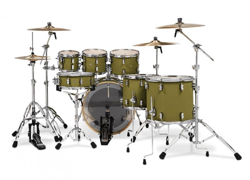 PDP by DW Shell set Concept Maple Finish Ply Satin Olive, PDCM2217SO