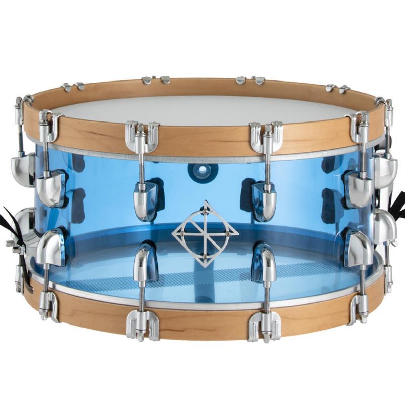 Dixon Cornerstone 14×6.5″ Seamless Acrylic See Through Blue Snare