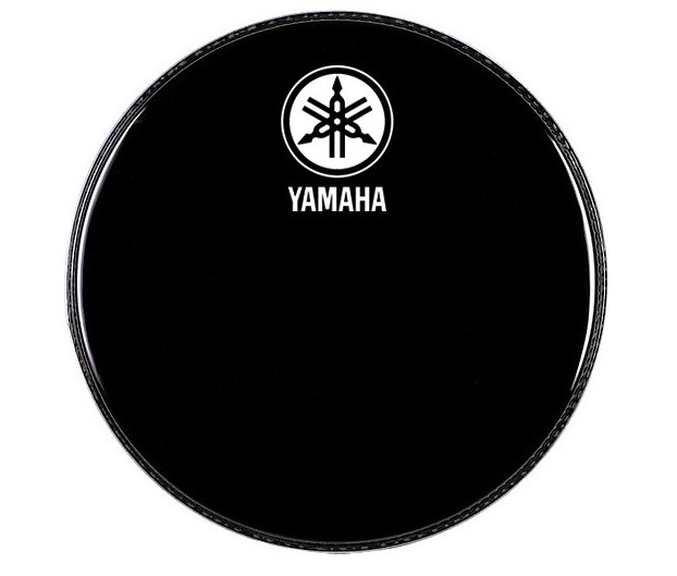 "Yamaha Logo Drum Head New Logo P3 Black 18"""