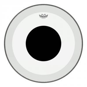 "18"" clear Powerstroke 3 Black Dot, bastrumma, Remo"