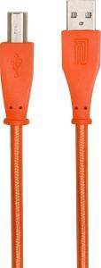 USB-kabel 1m, (USB-A - USB-B), orange woven, Roland