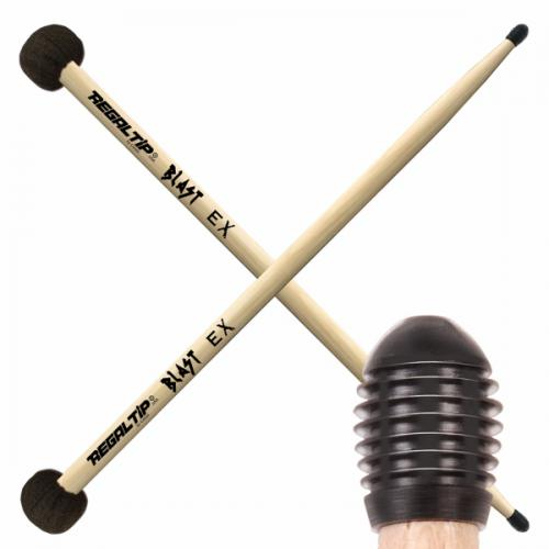 Regal Tip Black Nylon E-Tip Stick / Black Felt Mallet