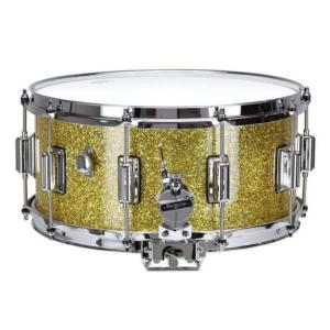 Rogers DynaSonic 14×6.5 Wood Shell Snare | Beavertail Lug – Gold Sparkle – Limited Edition