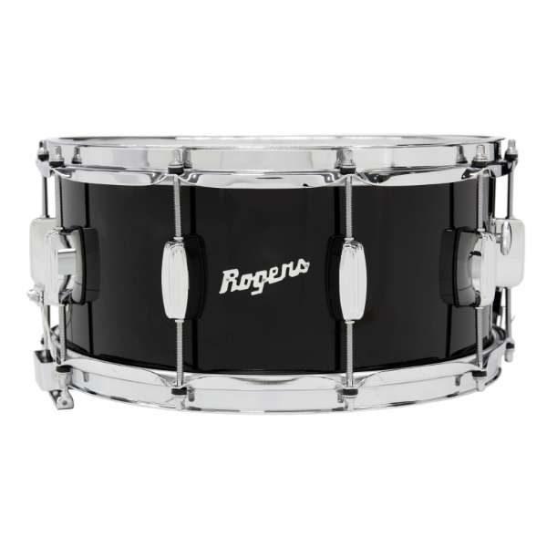 Rogers DynaSonic 14×6.5 Wood Shell Snare | Beavertail Lug – Piano Black – Limited Edition