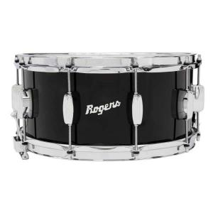Rogers DynaSonic 14×6.5 Wood Shell Snare | Beavertail Lug – Piano Black – Limited Edition
