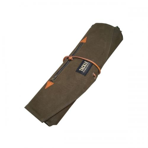 Tackle Waxed Canvas Roll Up Stick Case Forest Green