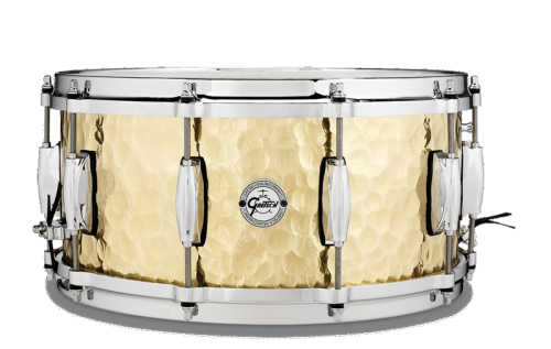 "Gretsch Snare Drum Full Range, Hammered Brass 14"" x 6.5"""