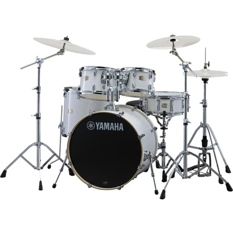 Yamaha Stage Custom Birch SBP0F5PWH Pure White  +  Hw680W