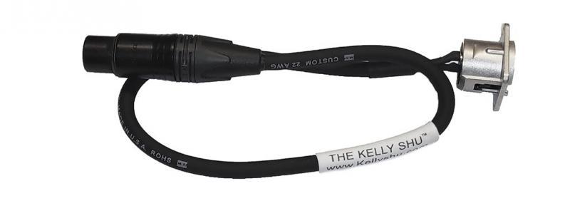 Kelly SHU 18-inch XLR Socket/Microphone Cable
