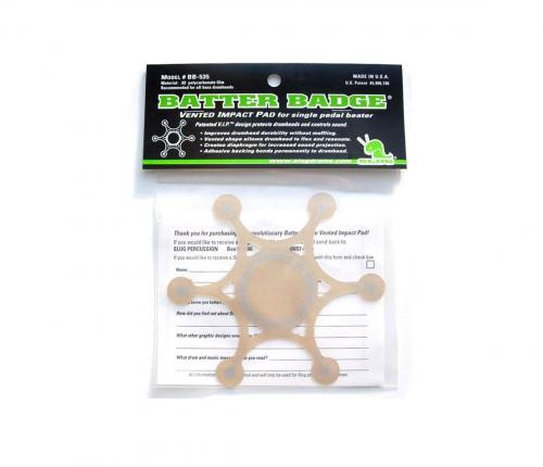 Batter Badge - Single Beater Impact Pad, Slug