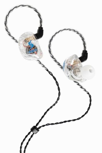Stagg sound-isolating earphones, Transparent SPM-435TR