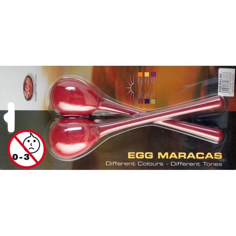 Ägg maracas röd