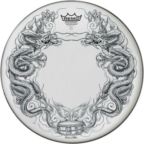 "14"" Tattoo Skyn ""Dragon"" – Vit , Remo"