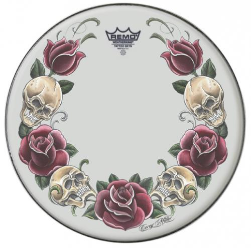 "14"" Tattoo Skyn ""Rock and Roses"" – Vit, Remo"