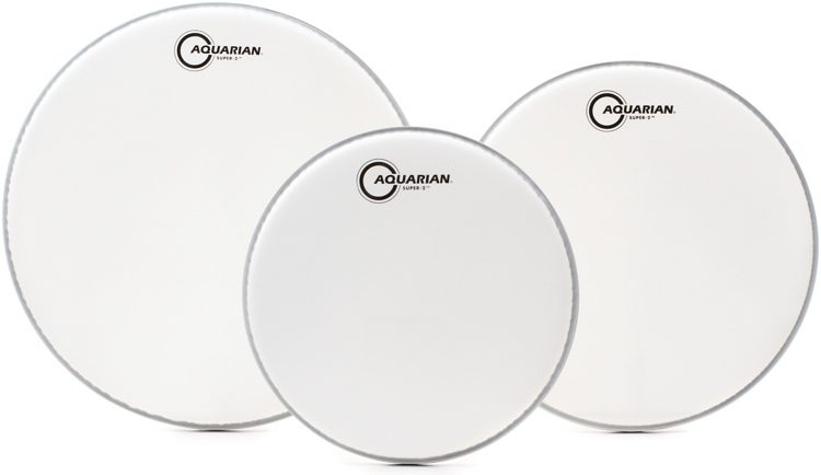 """10"""",12"""",14"""" Texture Coated Tom Drumhead Pack A. 10"""", 12"""",14"""", Aquarian"""