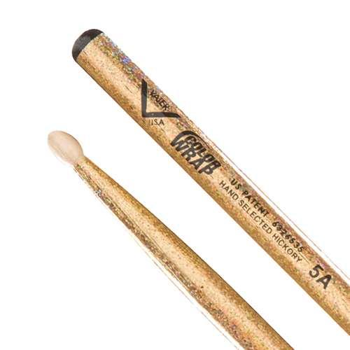 Vater Color Wrap 5A Gold Sparkle Wood Tip