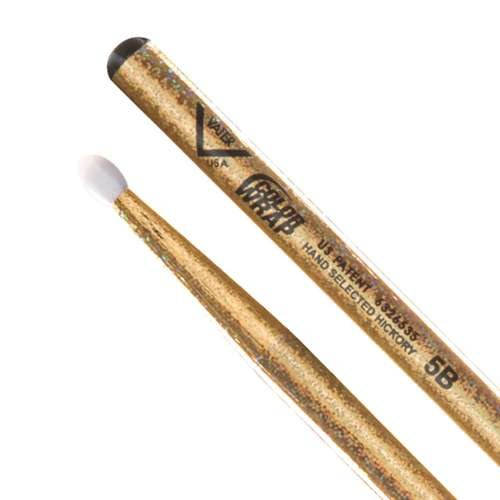 Vater Color Wrap 5B Gold Sparkle Wood Tip