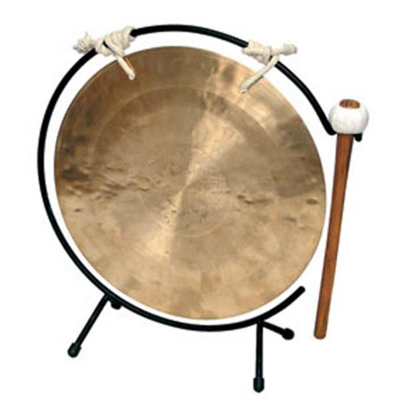 Planet Music Wind Gong 10″ w/Table Stand & Mallet