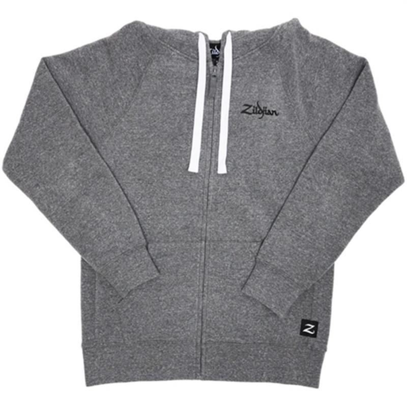 Zildjian Gray Zip-Up Hoodie - Medium