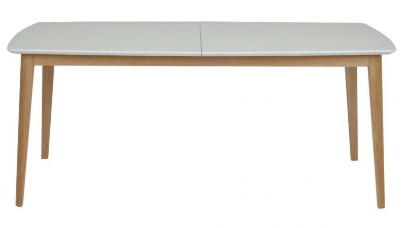 Skandø matbord vit, 180(+2x40)x90-