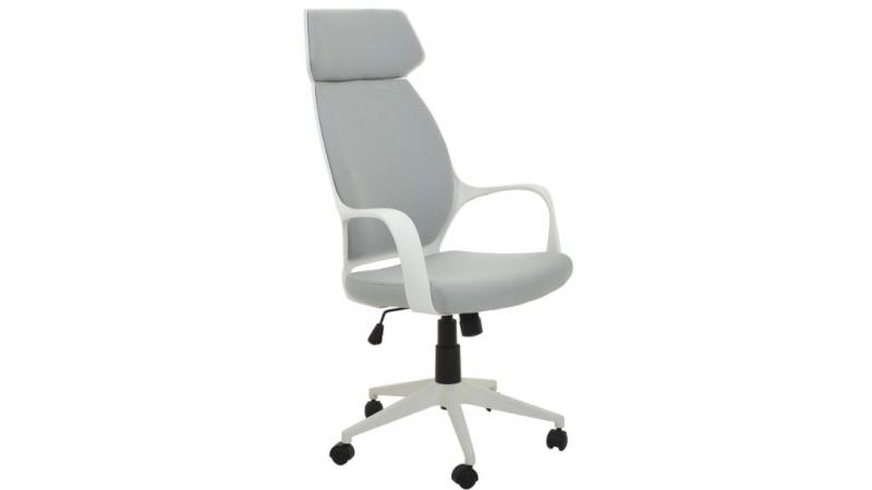 Alpha kontorstol i grå tyg-