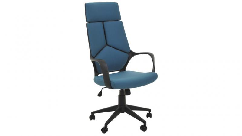 Beta kontorstol i blå tyg-