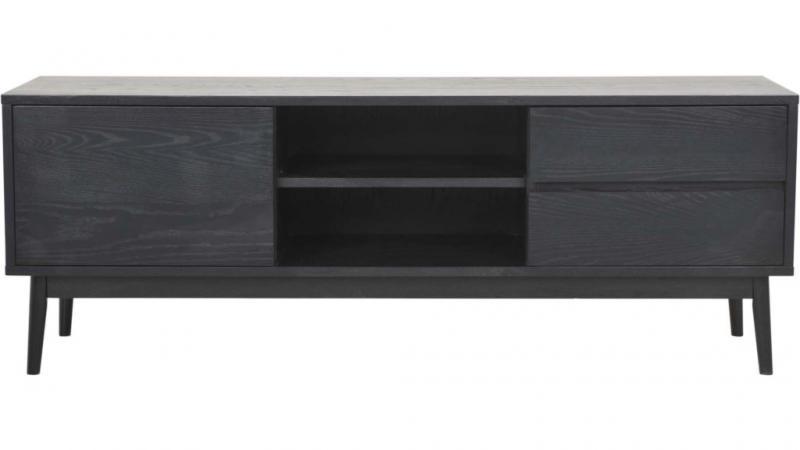 Ekeberg tv-bänk svartlack.ask 152x42 55