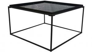 Grace soffbord, svart 80x80 h45
