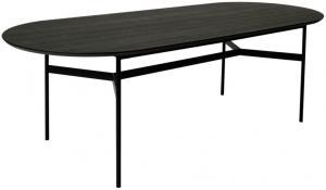 Passau matbord svart askfaner 240x100