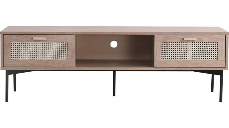 Raffels tv bänk, natur ek, 160