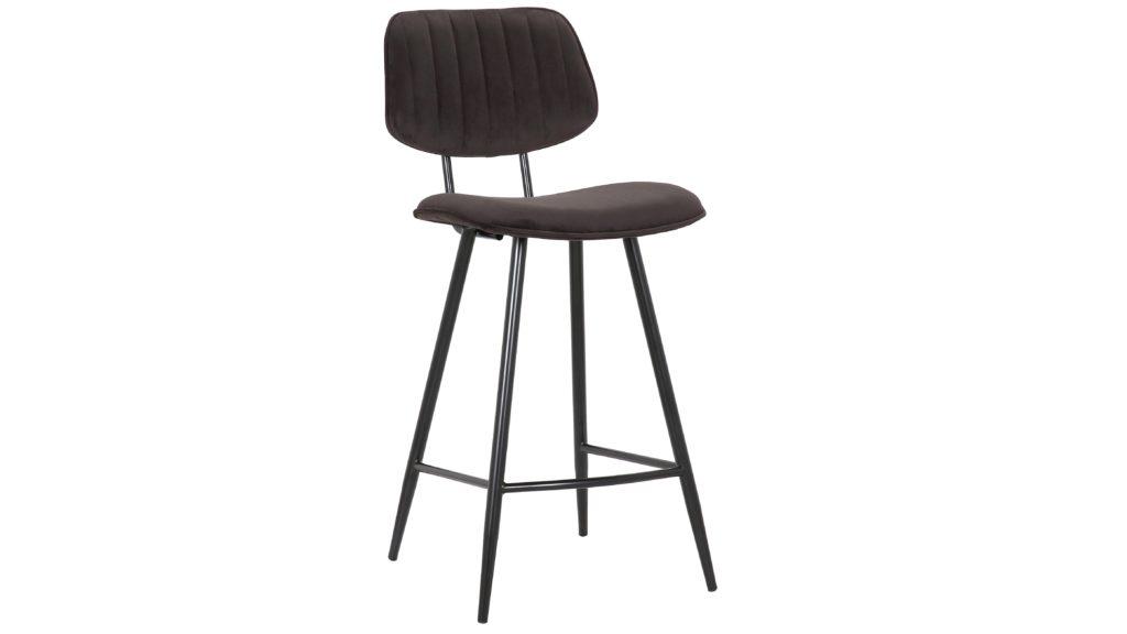 Murphy barstol i svart velour